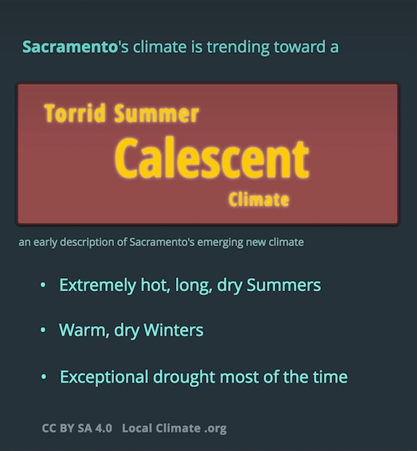 These are three attributes of Sacramento's coming so-called Calescent climate. Graphic.
