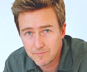 Edward Norton looking at you directly in the camera