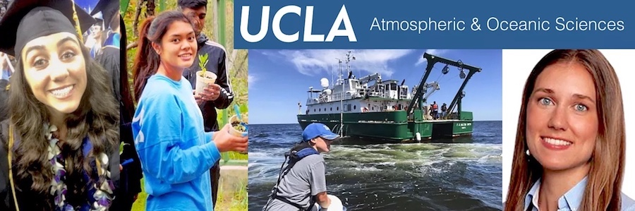 a montage of photos of students doing scientific research out in the field. photos.
