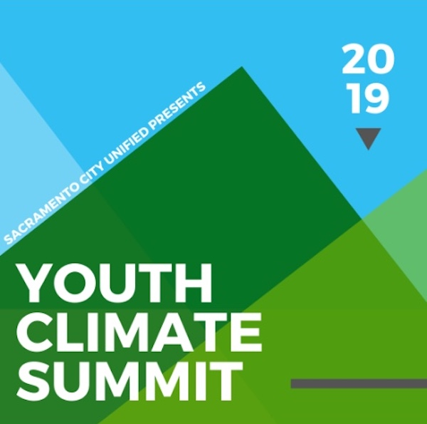 Logo of the Sacramento Youth Climate Summit. Graphic Art.