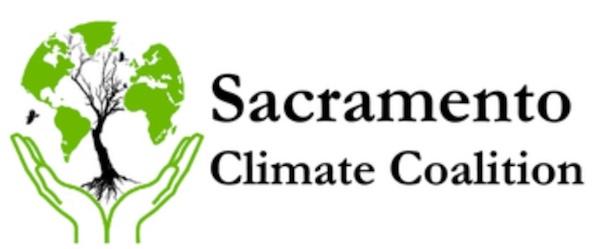 Logo of the Sacramento Climate Coalition. Graphic Art.